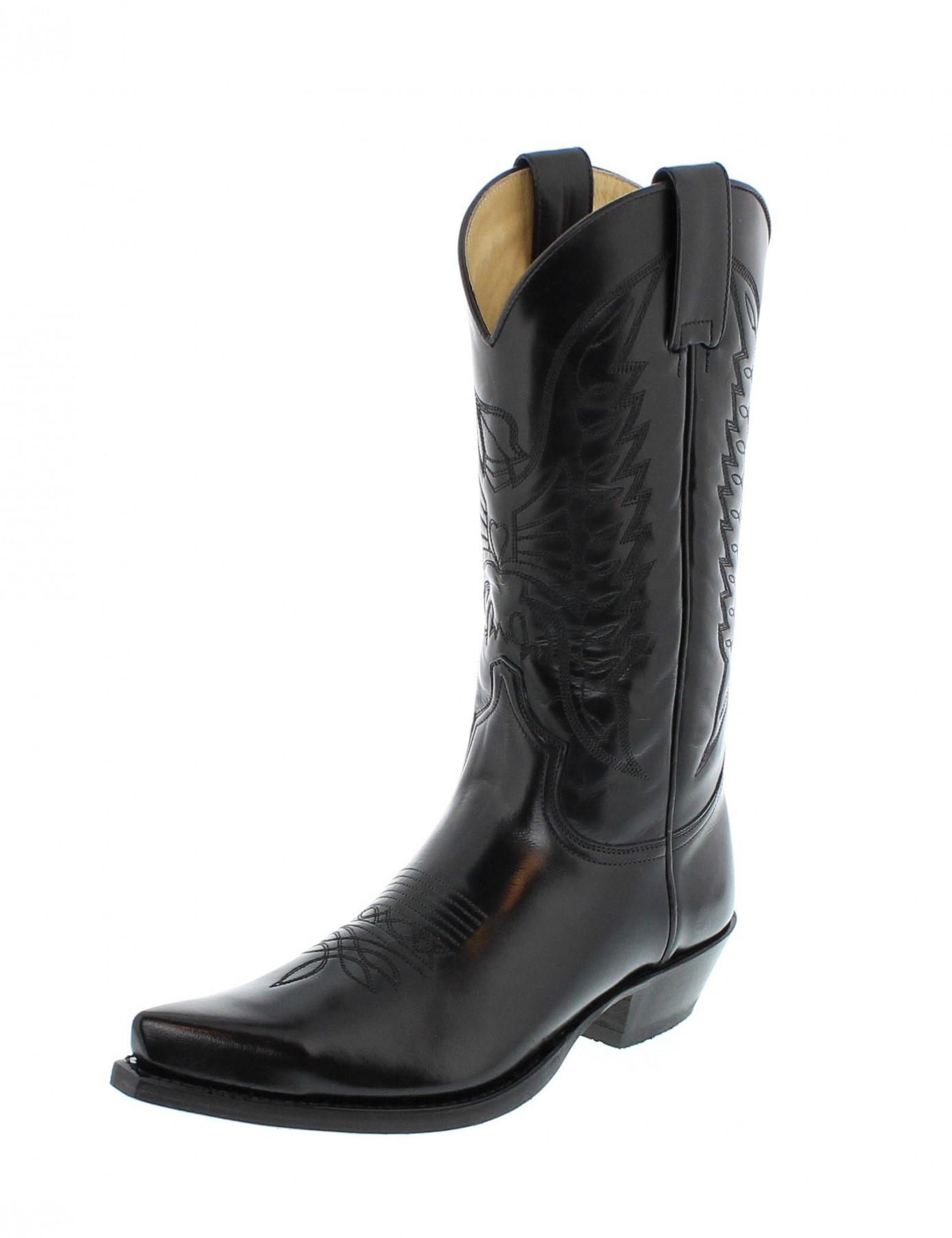 sendra boots 2073 florentic negro westernstiefel schwarz. Black Bedroom Furniture Sets. Home Design Ideas
