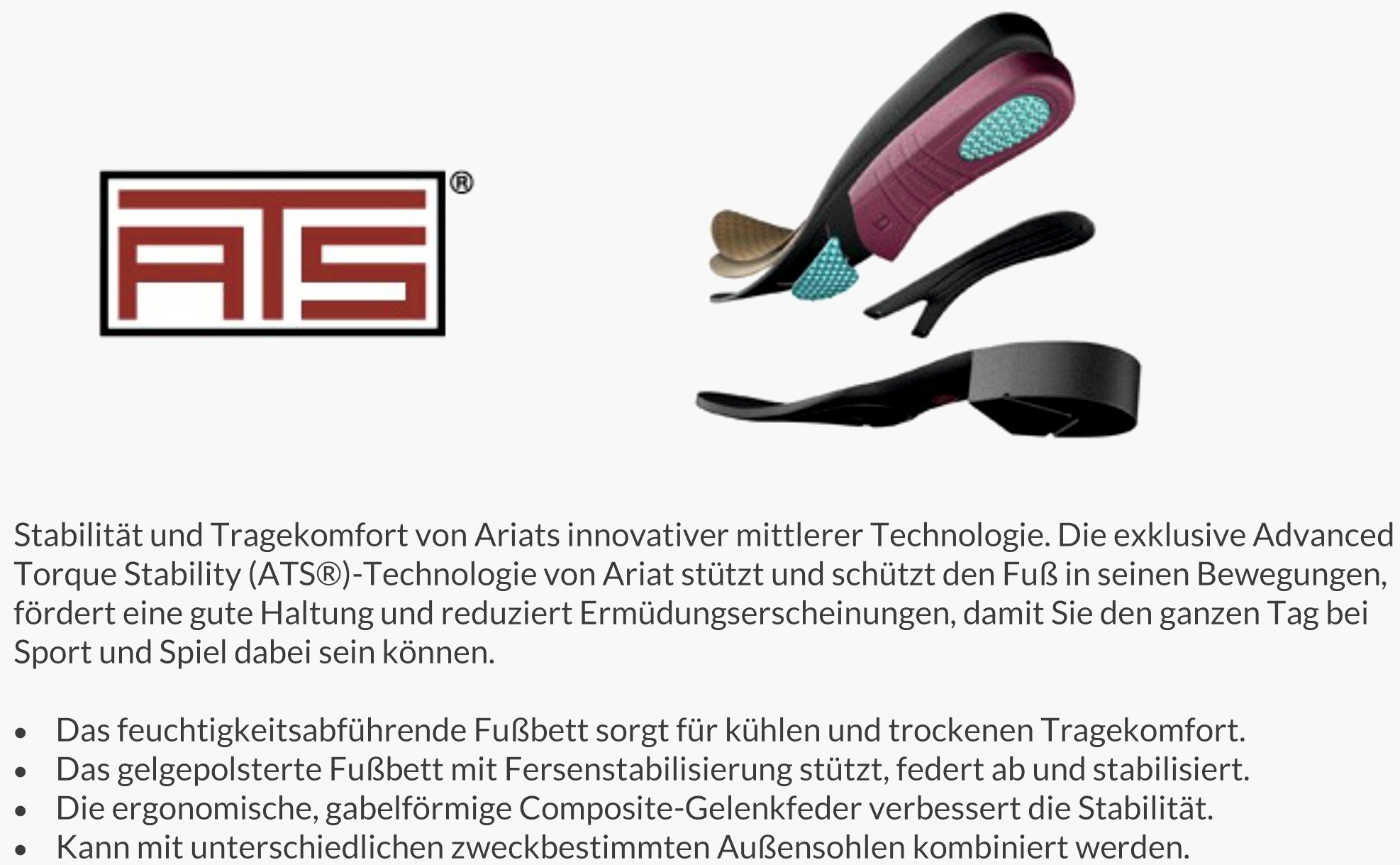 Ariat ATS Technologie